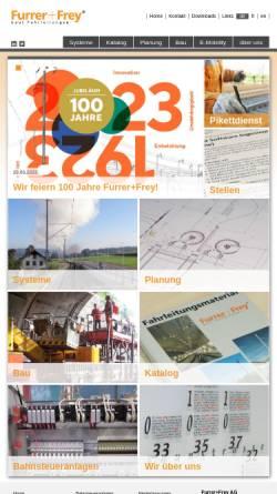 Vorschau der mobilen Webseite www.furrerfrey.ch, Furrer+Frey AG
