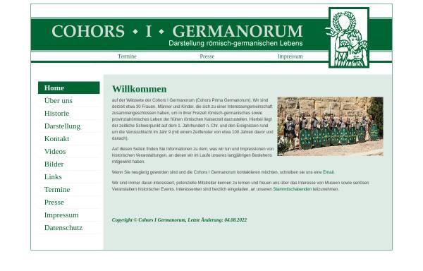 Vorschau von www.germanorum.de, Cohors I Germanorum