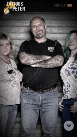Vorschau der mobilen Webseite www.tattoos-by-peter.de, Tatoos by Peter, Peter Tiegs
