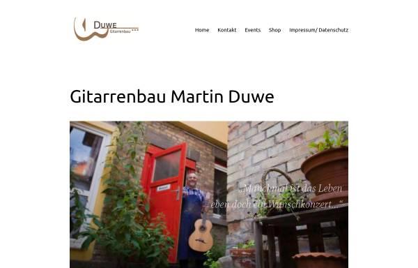 Vorschau von www.duwe-gitarrenbau.de, Duwe-Gitarrenbau