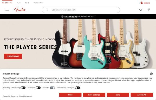 Vorschau von www.fender.de, Fender Deutschland