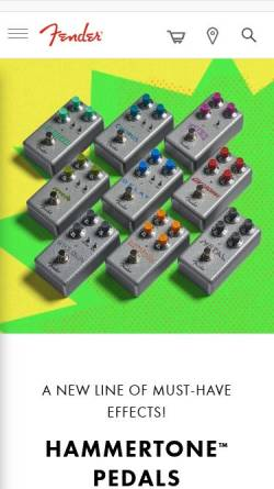 Vorschau der mobilen Webseite www.fender.de, Fender Deutschland