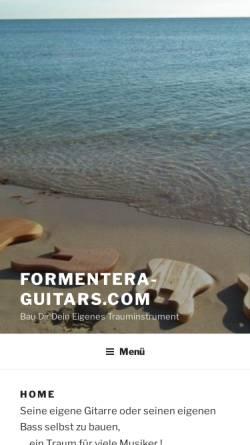 Vorschau der mobilen Webseite www.formentera-guitars.com, Formentera Guitars, Ekkehard Hoffmann
