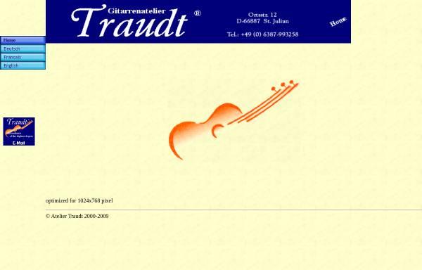 Vorschau von www.traudt-guitars.com, Gitarrenatelier Traudt