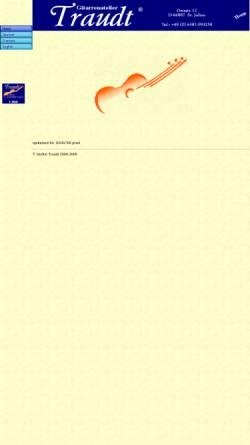 Vorschau der mobilen Webseite www.traudt-guitars.com, Gitarrenatelier Traudt