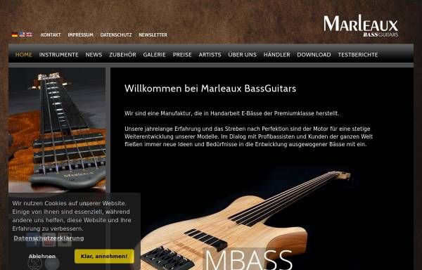 Vorschau von www.marleaux-bass.de, Marleaux Bass Gitarren