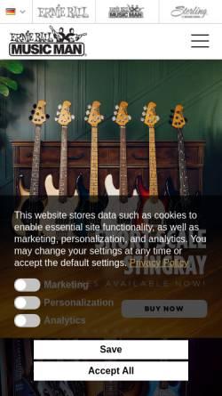 Vorschau der mobilen Webseite www.musicman.de, OLP Music