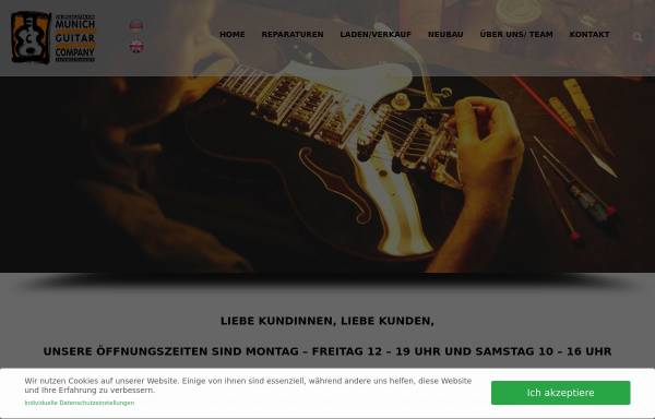 Vorschau von www.guitars.de, Stevens Custom Guitars and Munich Repair Shop