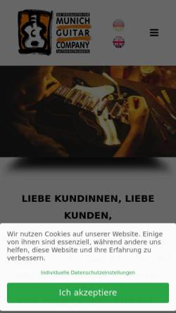 Vorschau der mobilen Webseite www.guitars.de, Stevens Custom Guitars and Munich Repair Shop