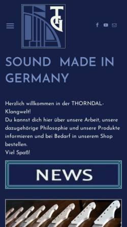 Vorschau der mobilen Webseite www.thorndal.de, Thorndal