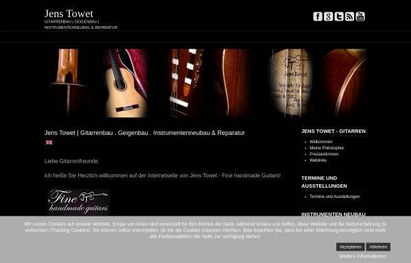 Vorschau von www.towet-gitarren.com, Towet Gitarrenbau