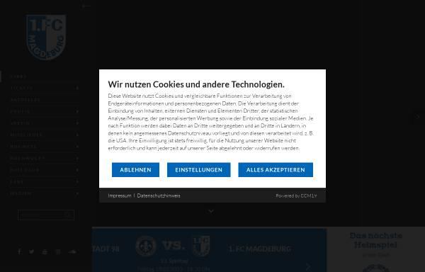 Vorschau von www.fc-magdeburg.de, 1. FC Magdeburg