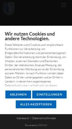 Vorschau der mobilen Webseite www.fc-magdeburg.de, 1. FC Magdeburg