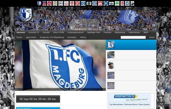 Vorschau von www.pressenews-1fcm.de, 1.FC Magdeburg Fanpage
