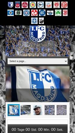 Vorschau der mobilen Webseite www.pressenews-1fcm.de, 1.FC Magdeburg Fanpage