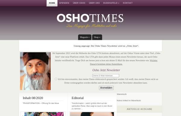 Vorschau von www.oshotimes.de, OshoTimes