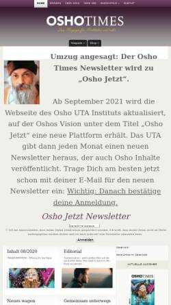 Vorschau der mobilen Webseite www.oshotimes.de, OshoTimes