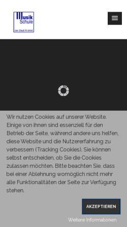 Vorschau der mobilen Webseite musik.krefeld.schulen.net, Musikschule Krefeld