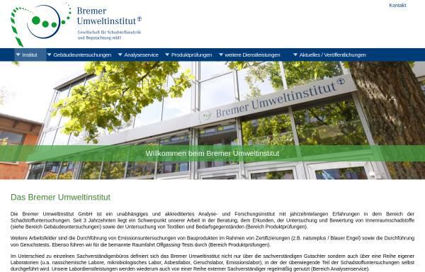 Vorschau von www.bremer-umweltinstitut.de, Bremer Umweltinstitut