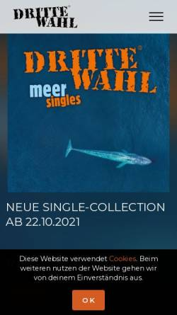 Vorschau der mobilen Webseite www.dritte-wahl.de, Dritte Wahl