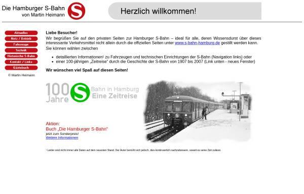Vorschau von www.hamburger-s-bahn.de, Hamburger S-Bahn