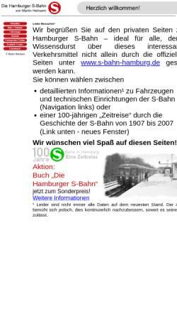 Vorschau der mobilen Webseite www.hamburger-s-bahn.de, Hamburger S-Bahn