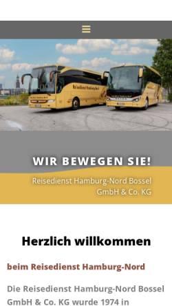 Vorschau der mobilen Webseite www.reisedienst-hamburg-nord.de, Reisedienst Hamburg-Nord Bossel KG