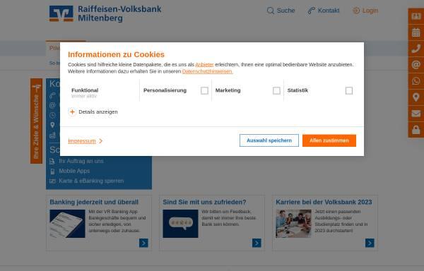 Vorschau von www.rvbmil.de, Raiffeisenbank Miltenberg
