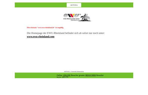 Vorschau von www.ewu-rheinland.de, Erste Wersternreiter Union-Rheinland e.V. (EWU)