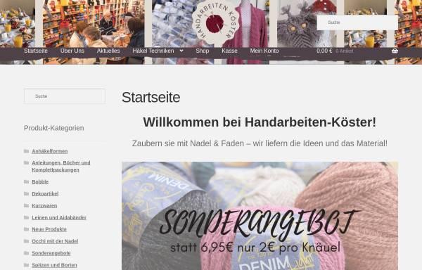 Vorschau von www.handarbeiten-koester.de, Handarbeiten Koester