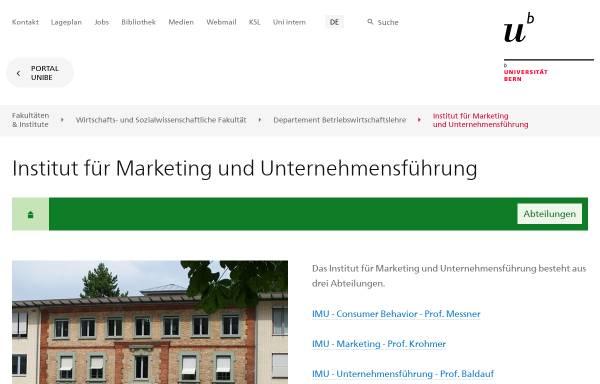 Vorschau von www.imu.unibe.ch, IMU-Marketing