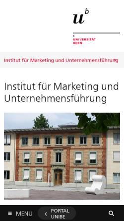 Vorschau der mobilen Webseite www.imu.unibe.ch, IMU-Marketing