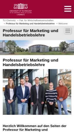 Vorschau der mobilen Webseite www.tu-chemnitz.de, Technische Universität Chemnitz