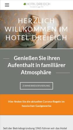 Vorschau der mobilen Webseite www.hotel-dreieich.de, Hotel Dreieich in Langen