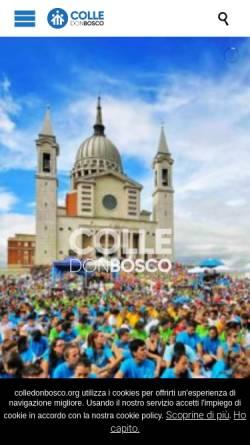 Vorschau der mobilen Webseite www.colledonbosco.it, Colle Don Bosco