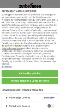 Vorschau der mobilen Webseite www.zurbrueggen.de, Zurbrüggen Wohnzentrum GmbH