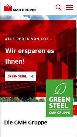 Vorschau der mobilen Webseite www.bgg-gmh.de, Berufsbildungsgesellschaft Georgsmarienhütte mbH