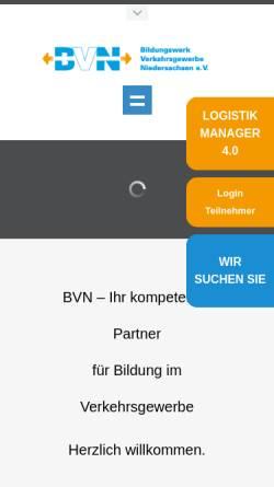 Vorschau der mobilen Webseite www.verkehrsgewerbe.de, Bildungswerk Verkehrsgewerbe Niedersachsen e.V.