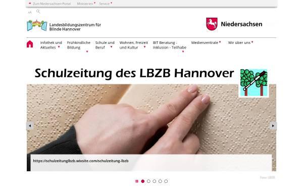 Vorschau von www.lbzb.de, Landesbildungszentrum für Blinde Hannover