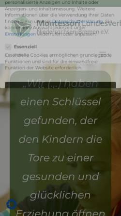 Vorschau der mobilen Webseite www.montessori-niedersachsen.de, Montessori-Landesverband Niedersachsen e.V.
