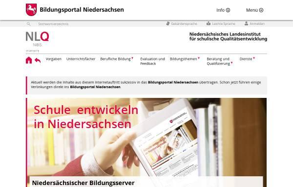 Vorschau von www.nibis.de, NiBiS - Niedersächsischer Bildungsserver