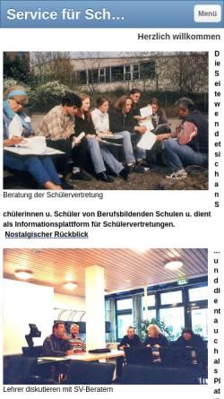 Vorschau der mobilen Webseite www.goepfert-sv.de, Schülervertretungen an berufsbildenden Schulen