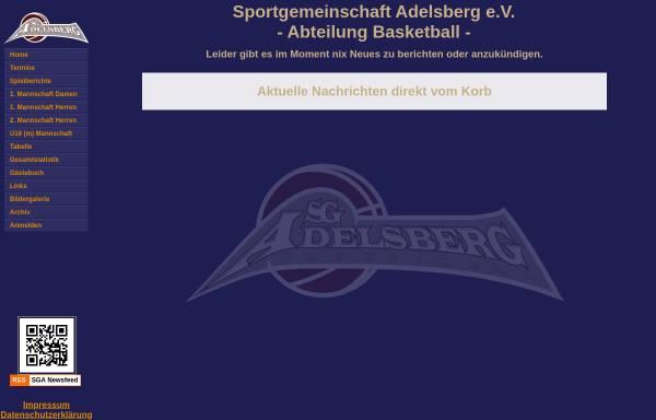 Vorschau von sga.nicsys.de, Basketballabteilung der Sportgemeinschaft Adelsberg e.V.