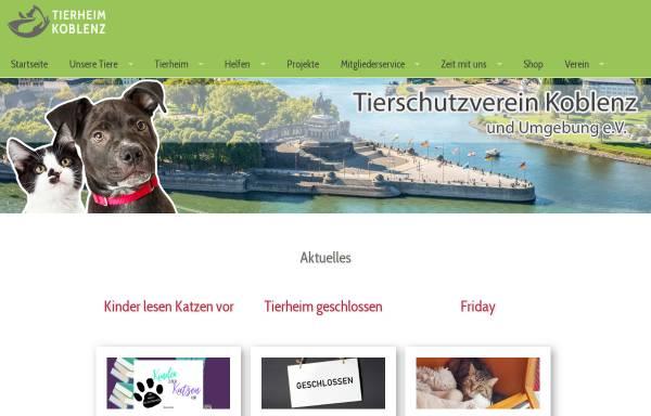 Vorschau von www.tierheim-koblenz.de, Tierheim Koblenz