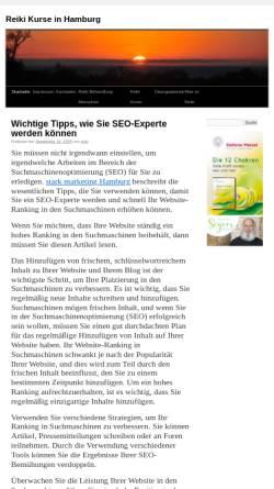 Vorschau der mobilen Webseite www.reiki-kurse-hamburg.de, Stefanie Rappat