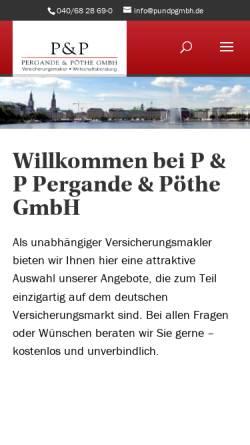 Vorschau der mobilen Webseite www.pundpgmbh.de, Pergande & Pöthe GmbH