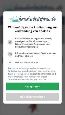 Vorschau der mobilen Webseite www.handarbeitsfrau.de, Handarbeitsfrau.de