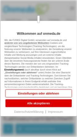 Vorschau der mobilen Webseite www.onmeda.de, Laktoseintoleranz
