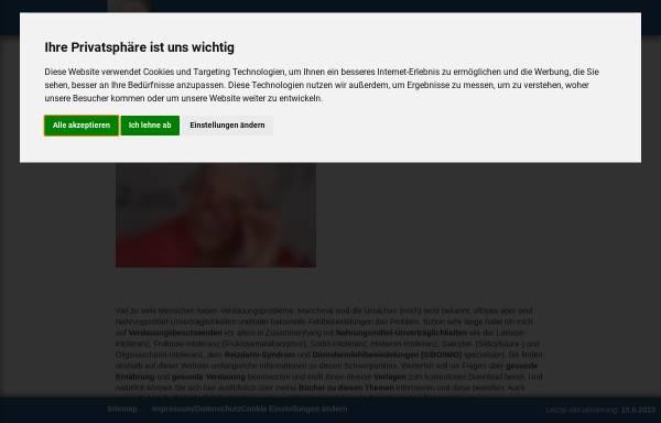 Vorschau von www.dorispaas.de, Das Laktose-Intoleranz Buch