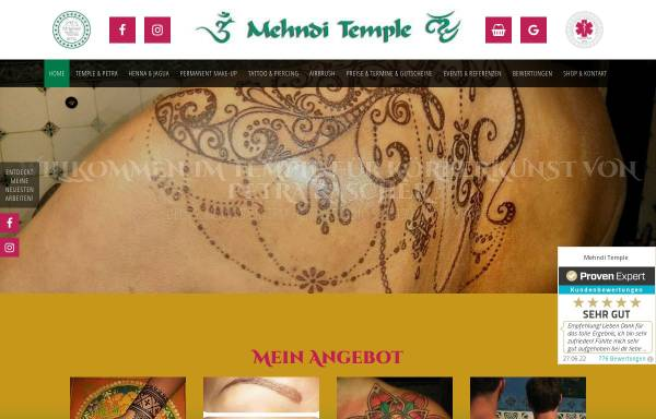 Vorschau von www.mehnditemple.com, Mehndi Temple